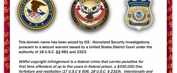 Domain names seized by ICE - Homeland Security investigations