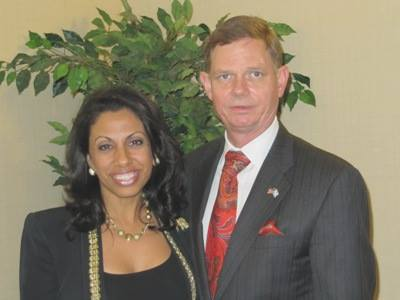 Tom Tamarkin, Brigitte Gabriel in Washington DC