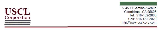 USCL letterhead