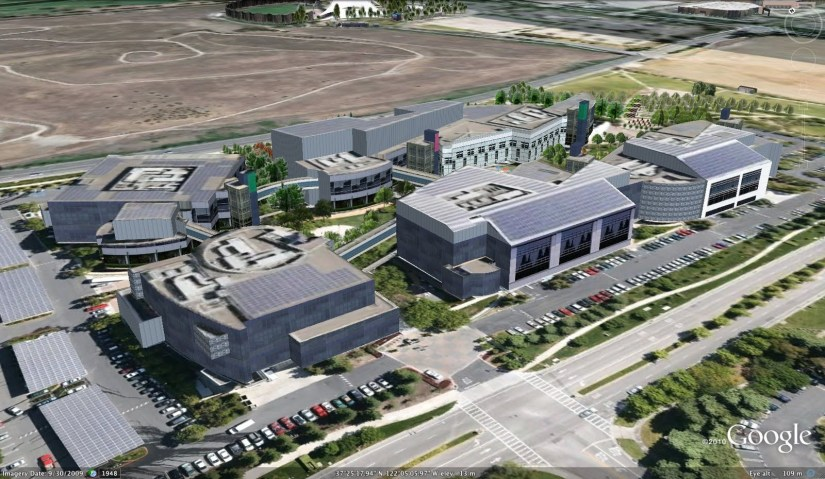 Google headquarters, complete with 1.6MW of PV panels