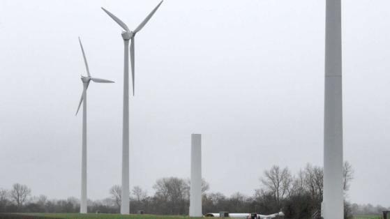 remainder of turbine tower