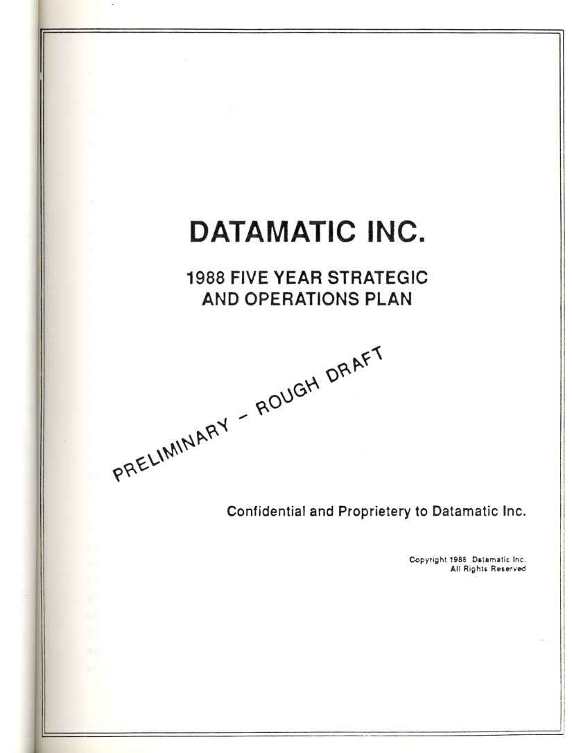 Datamatic 5 year plan