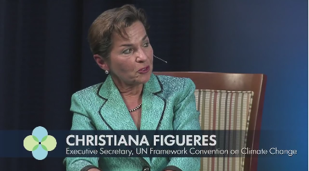 Christiana Figueres Discusses Need For Worldwide Population Reduction