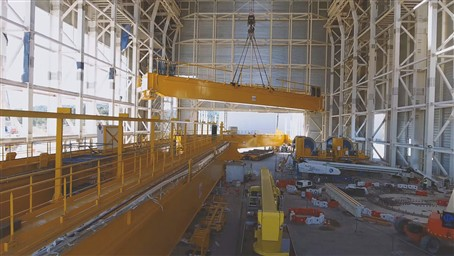 The first girder in the ITER Assembly Hall has been lifted!