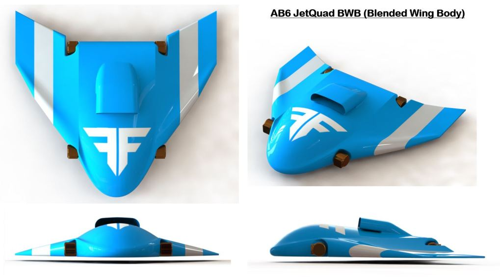 AB6 JetQuad Blended Wing Body