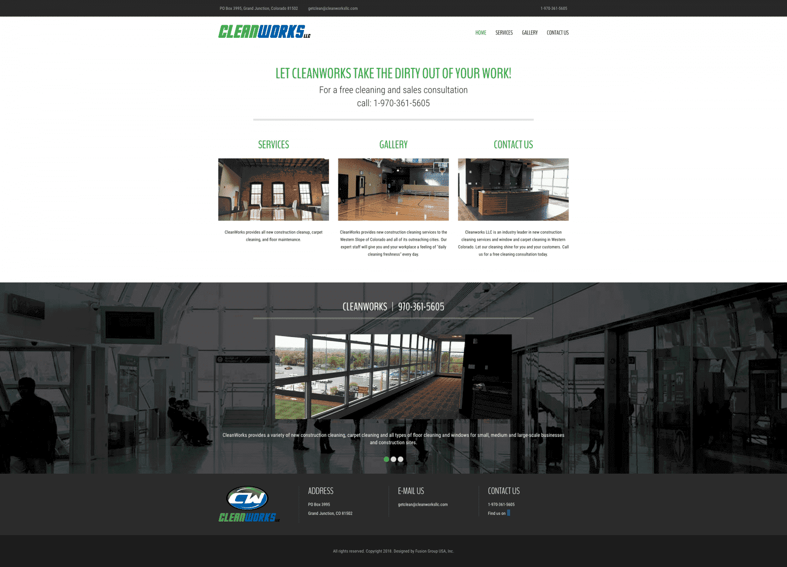 Commercial Cleaning Company Website Design