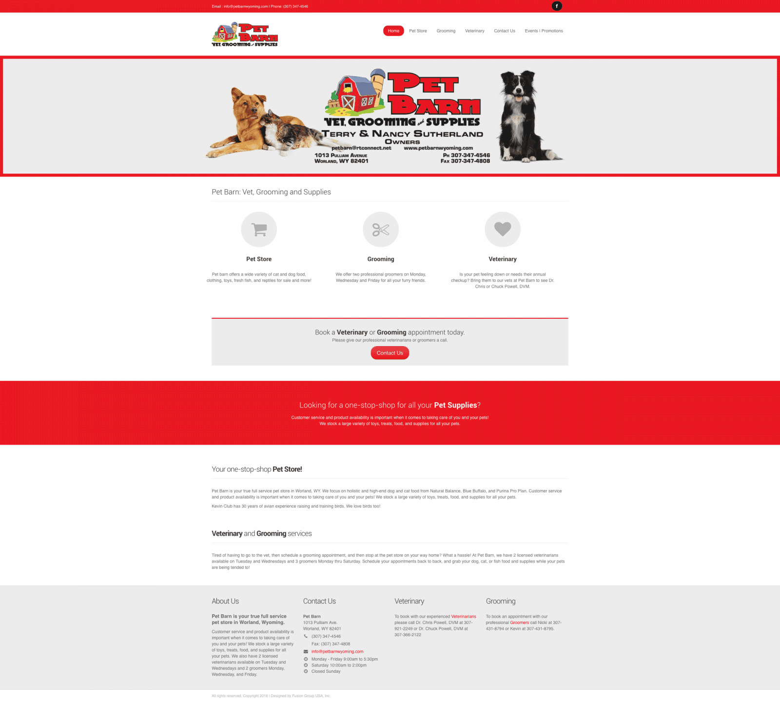 Pet Store Website Design
