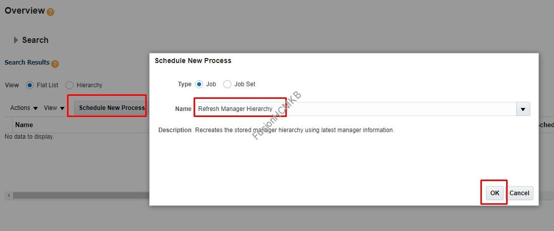 Refresh Manager Hierarchy Snapshot