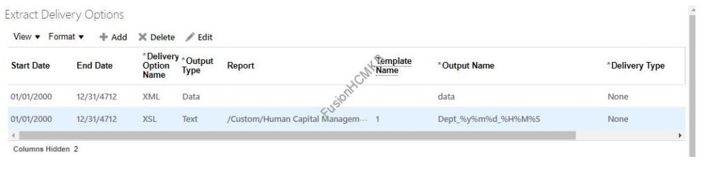 Dynamic Output File Name for HCM Extracts Delivery Options in Fusion HCM Oracle HCM Cloud