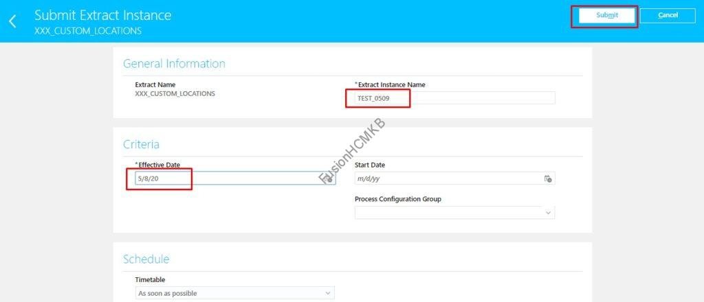 Submit Extract by another user in fusion hcm oracle hcm cloud extract tips and tricks