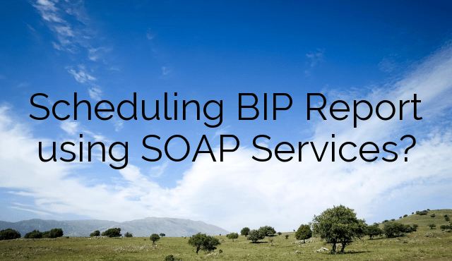 Scheduling BIP Report using SOAP Services?