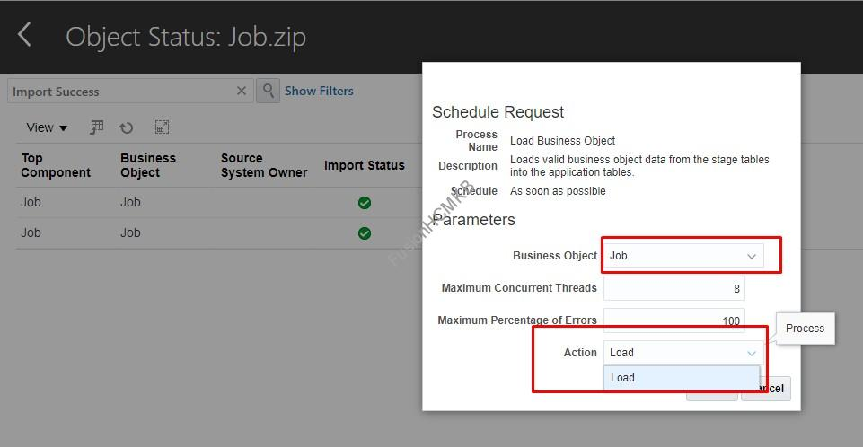 Rollback not available for Job Business Object
