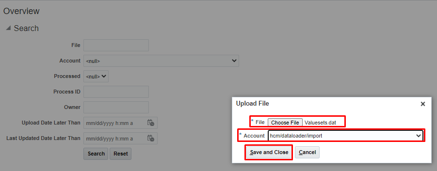 Upload file to UCM