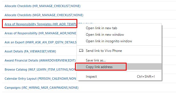 Copy Deep Link Address