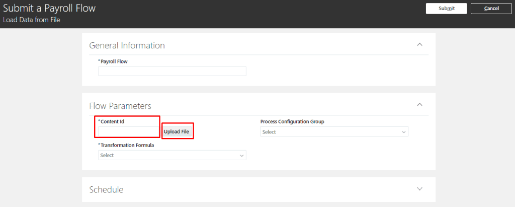 Content ID Input