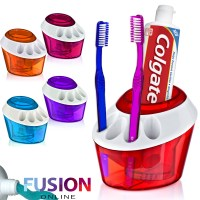 PLASTIC TOOTHBRUSH HOLDER TOOTHPASTE HOLDER STAND BATHROOM ...
