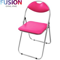 Folding Executive Chair Steel Visitor Office Reception Padded Desk Chairs Foldable