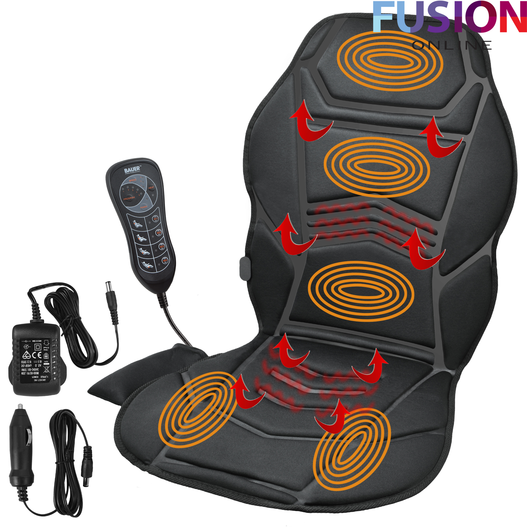 Massage Chair For Car Heated Back Seat Remote Control Massage Chair Car Home Van
