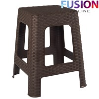 NEW LARGE PLASTIC RATTAN STEP STOOL INDOOR OUTDOOR HOME ...