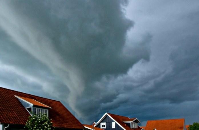 Tordenvejr over Brødeskovparken i Hillerød