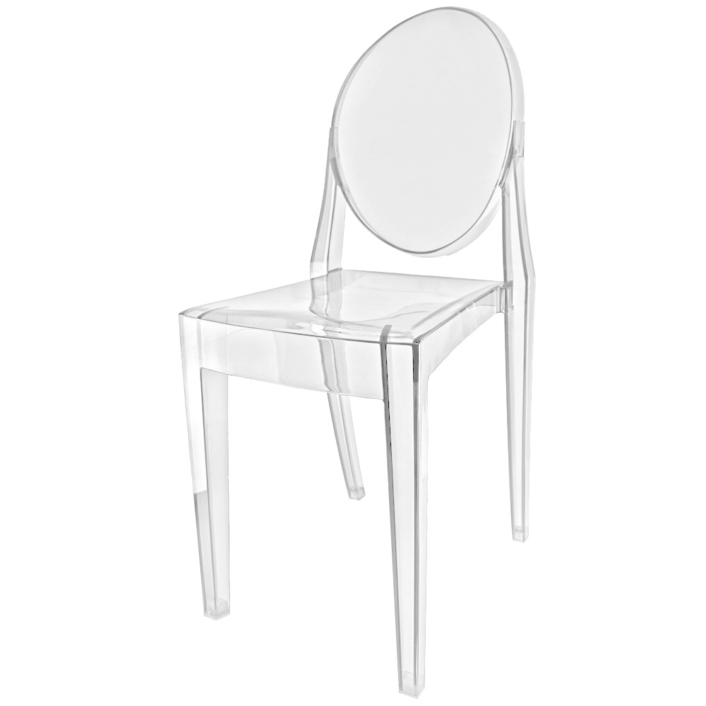 Plastic Clear Chair Fusion Living Crystal Clear Ghost Style Plastic Victoria Dining Chair