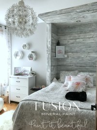 How to Paint a Barn Board headboard feature wall  Fusion ...