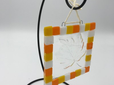 Leaf Impression Sun Catcher