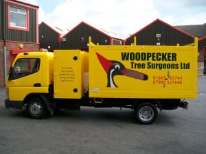 woodpecker vehicle branding