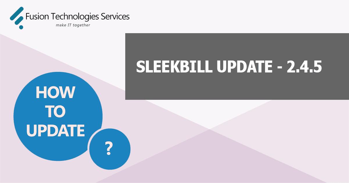 sleekbill 2.4.5 how to update sleekbill latest version online