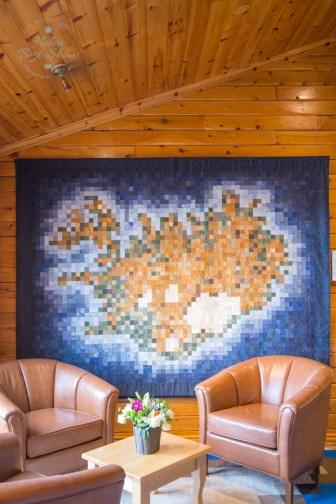 The Iceland quilt, Hotel Ranga, South Iceland
