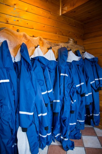 Outdoor gear, at Hotel Ranga, South Iceland
