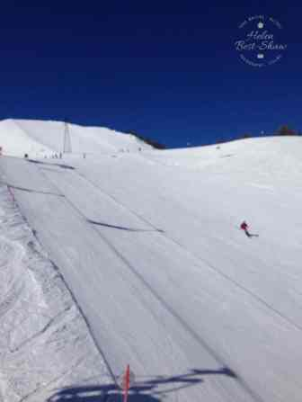 Empty slopes and no lift queues in Courmayeur