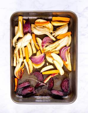 Delicious baked vegetable, with a luxurious and delicious honey and sherry dressing. .