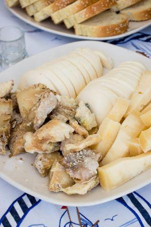 Food on Tinos - local Kariki cheese and others