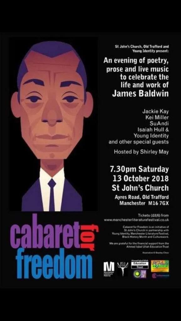 Cabaret for Freedom - leaflet James Baldwin