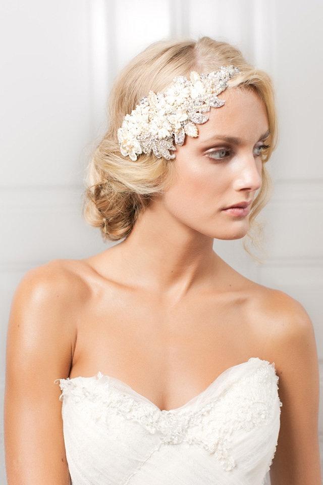 Wear A Bejeweled Bridal Headpiece