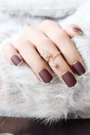 of burgundy nail design
