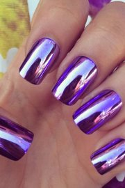 purple nail polish design