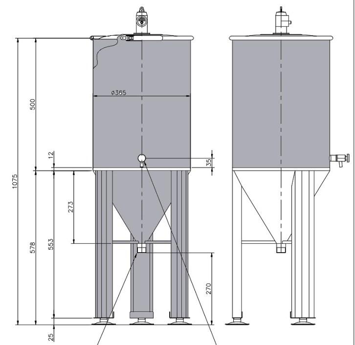Fermenteur 50 litres