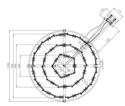 Dimensions du bruleur 60 kW