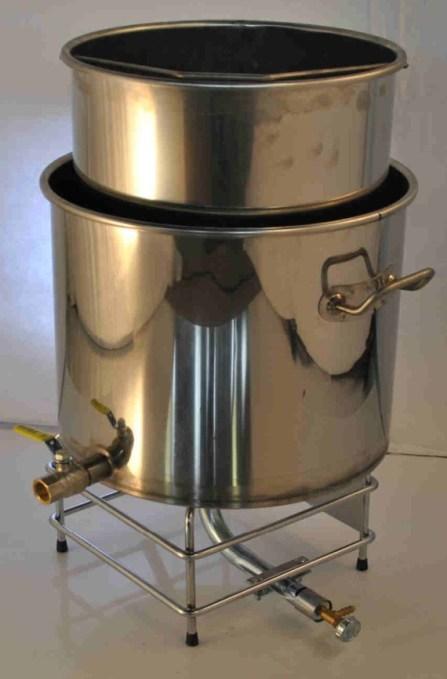 cuve inox avec chauffage gaz