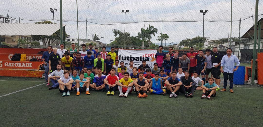 jugadores presentados al draft futbalia 2018 en la ciudad de Guayaquil