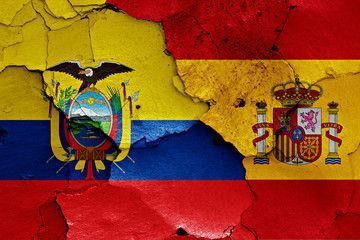 banderas de fútbol de ecuador y de España