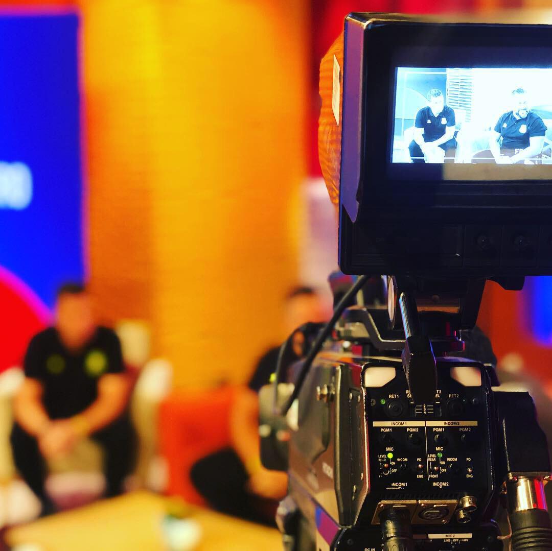 entrevista en televisión futbalia y alcorcón en bolivia