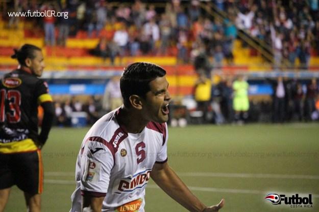 Keylor Soto celebra el empate del juego. Foto cortesía yashinquesada.com