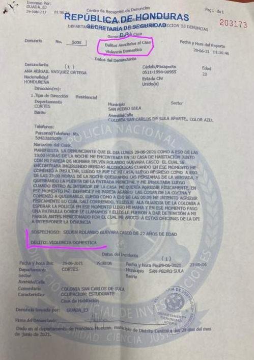 La denuncia contra Selvin Guevara (Foto: Diario Más)