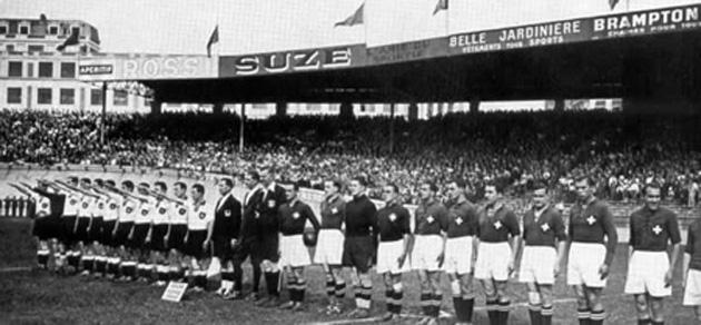 Francia 1938 - Desempate - Suiza 4 Alemania 2
