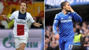 Las miradas estarán puestas en las estrellas de los equipo: Ibrahimović y Hazard