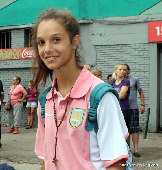 Romina Alanis. Dos goles de la floridense para el empate de Uruguay