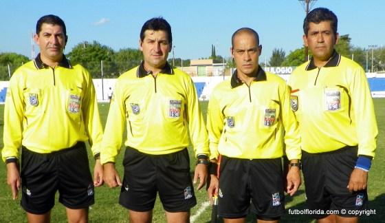 Madera y sus asistentes el 01-04-12 en Melo cuando se diaputara la final Cerro Largo - Colonia